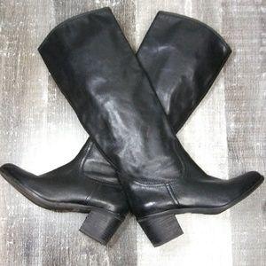 Sam Edelman Loren Black Leather Boots 7.5
